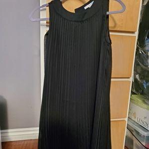 Boden Accordian pleat Dress in black
